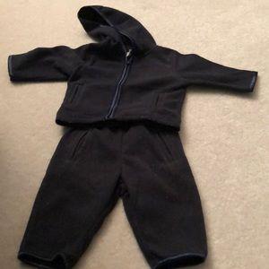 Baby gap navy fleece hoodie and pants 3-6 months